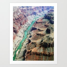 Grand Canyon Bird's eye view #4 Art Print