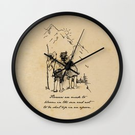 Heidi - Flowers are Made to Bloom Wall Clock