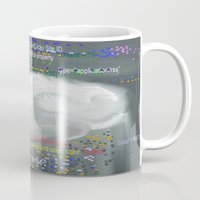 code Mugs featuring Raining code by Robert Morris