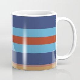 Retro 70s Vintage Surfer - Blue Sand Coffee Mug