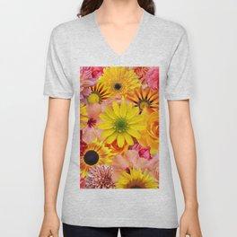ORANGE FLOWERS Unisex V-Neck