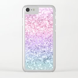 Unicorn Girls Glitter #1 #shiny #pastel #decor #art #society6 Clear iPhone Case