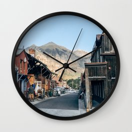 Street Photo Wall Clock