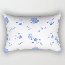 Charleston Floral Sky Blue Rectangular Pillow