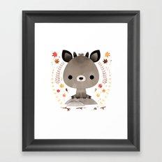 Japanese serow Framed Art Print