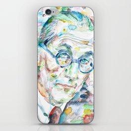 LE CORBUSIER - watercolor portrait iPhone Skin