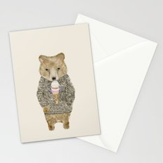 sundae bear Stationery Cards