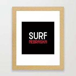 Surf Nebraska Framed Art Print