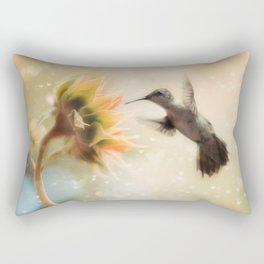 Like a Moth To a Flame Rectangular Pillow
