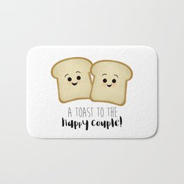 A Toast To The Happy Couple! Bath Mat