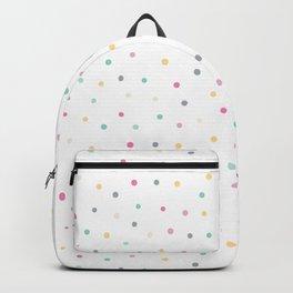 Adorable Pastel Coloured Dots Pattern - Polka dot Backpack