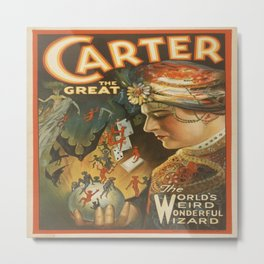 Vintage poster - Carter the Great Metal Print