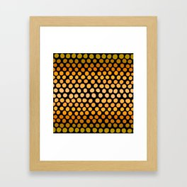 Honey Gold and Amber Ombre Dots Framed Art Print