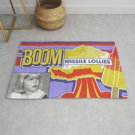 Boom Missile Lollies 1980s Cold War politics parody nostalgia retro Rug