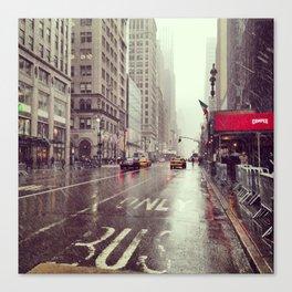 nyc street rain Canvas Print