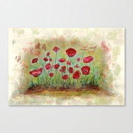 poppy island Canvas Print