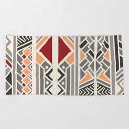 Tribal ethnic geometric pattern 034 Beach Towel