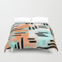 Linear Abstract Duvet Cover