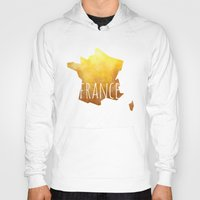france Hoodies featuring France by Stephanie Wittenburg