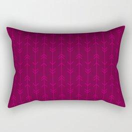 Raspberry Line Arrows Rectangular Pillow