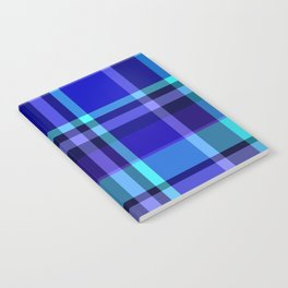 Blue Plaid Pattern Notebook