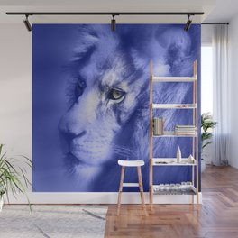 Fantasy Lion of Legend in Blue-Lilac Wall Mural