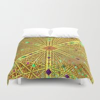 labyrinth Duvet Covers featuring Labyrinth by Fractalinear