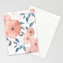 Seamless watercolor floral illustration. Stationery Cards