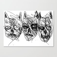 Dumb Lame Bat Heads Canvas Print