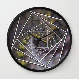 Wattle Mandala Wall Clock