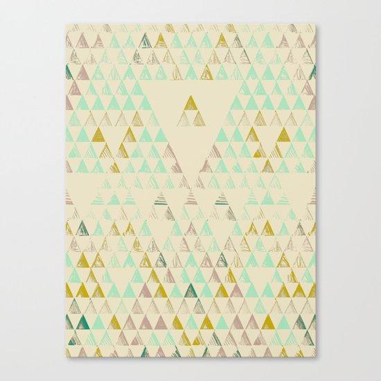 Triangle Lake Canvas Print