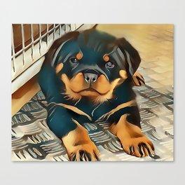 Rottweiler Pup Canvas Print