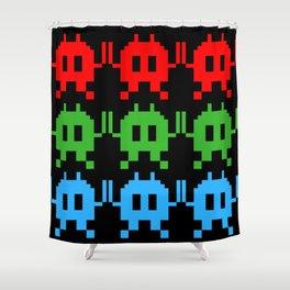 Invaders RGB - Pixel Art Shower Curtain