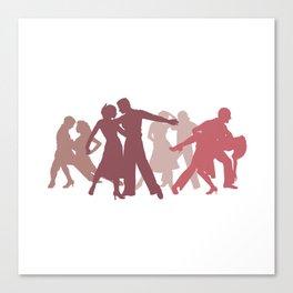 Latin Dancers Illustration Canvas Print