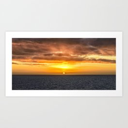 Arafura Sea Sunset Art Print