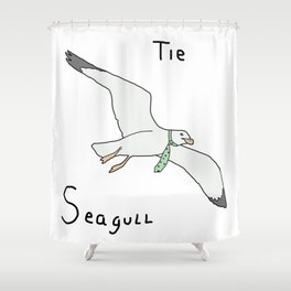 Tie Seagull Shower Curtain