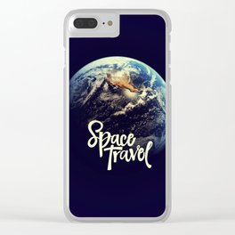 Space travel Clear iPhone Case