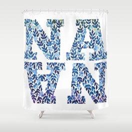 Modern Floral Nana Illustration Shower Curtain
