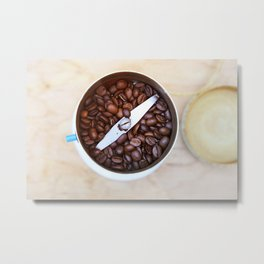 coffee beans and the coffee mill Metal Print