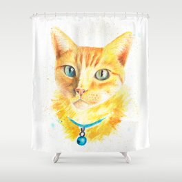 Pony the cat Shower Curtain