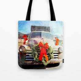 Christmas In Taos, New Mexico Tote Bag