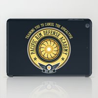 pacific rim iPad Cases featuring Pacific Rim Defense Academy by fishbiscuit