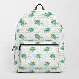 Yellow Fish Backpack
