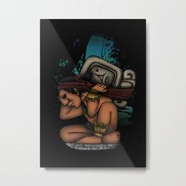Mayan God Metal Print