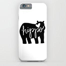 Hippo Love - Silhouette iPhone Case