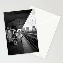 Waiting for Train Stationery Cards