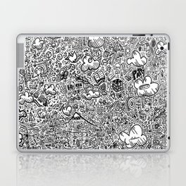 Crazy doodles Laptop & iPad Skin