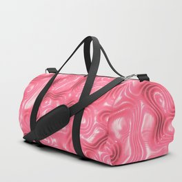 Rose Liquid Plastic Surface Duffle Bag