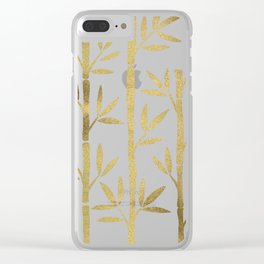 Bamboo Stems – Gold Palette Clear iPhone Case