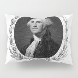 Engraving and anonymous portrait of George Washington Pillow Sham